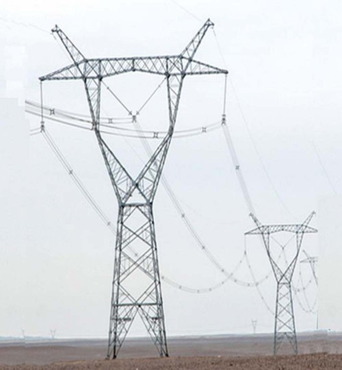 750kV transmission line tower